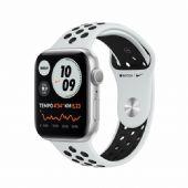 Apple Watch Nike Seri 6 40mm Silver Alüminyum Kasa ve Siyah Spor Kordon MG293TU/A