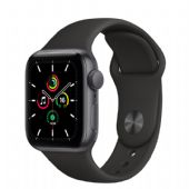 Apple Watch SE 40mm Space Gray Alüminyum Kasa ve Siyah Spor Kordon MYDP2TU/A