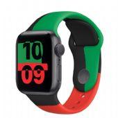 Apple Watch Seri 6 44mm Black Unity Alüminyum Kasa ve Spor Kordon