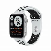 Apple Watch Nike Seri 6 44mm Silver Alüminyum Kasa ve Siyah Spor Kordon MG293TU/A